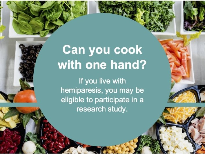 Cooking with one hand: the challenges with cooking in adults with hemiparesis living independently